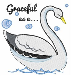 Graceful Swan embroidery design
