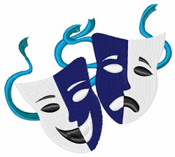 Drama Masks embroidery design