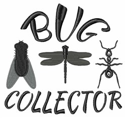 Bug Collector embroidery design