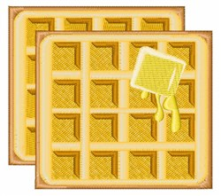Buttered Waffles embroidery design