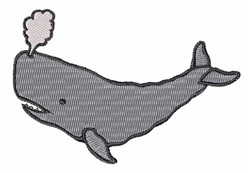 Grey Whale embroidery design