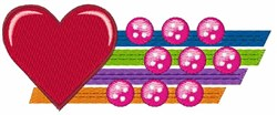 Heart & Buttons embroidery design