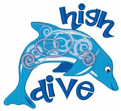 High Dive embroidery design