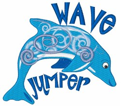 Wave Jumper embroidery design