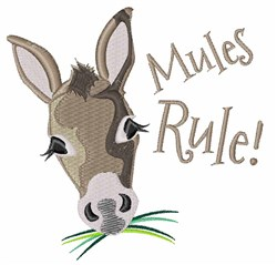 Mules Rule embroidery design