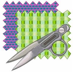Fabric & Scissors embroidery design