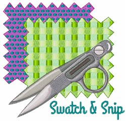 Swatch & Snip embroidery design