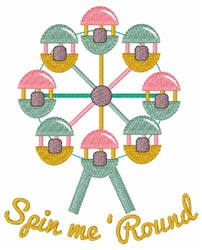 Spin Me Round embroidery design