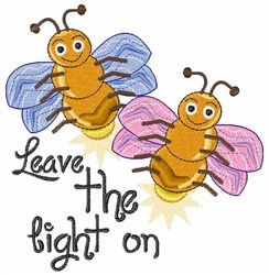 Leave Light On embroidery design