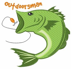 Outdoorsman embroidery design