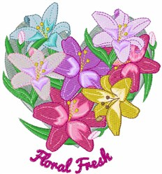 Floral Fresh embroidery design