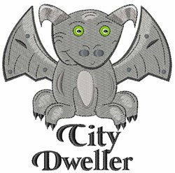City Dweller embroidery design