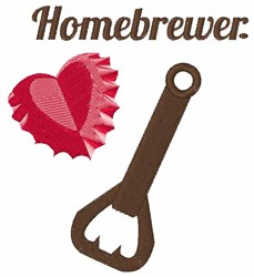 Homebrewer embroidery design
