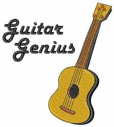 Guitar Genius embroidery design