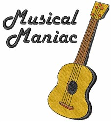 Musical Maniac embroidery design
