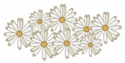 Daisy Flowers embroidery design