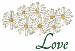 Love Daisies embroidery design