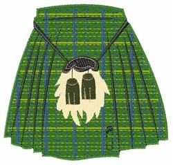 Scottish Kilt embroidery design