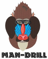 Man-Drill embroidery design
