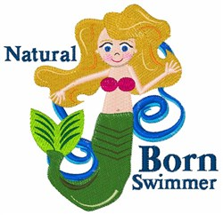 Natural Swimmer embroidery design