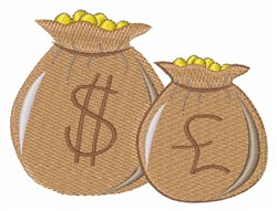 Money Bags embroidery design