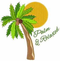 Palm & Relaxed embroidery design