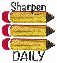 Sharpen Daily embroidery design
