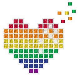 Pixel Heart embroidery design
