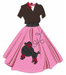 Poodle Skirt embroidery design