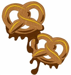 Chocolate Pretzels embroidery design