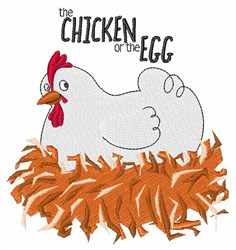 Chicken Or Egg embroidery design
