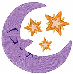 Night Moon embroidery design