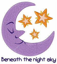 The Night Sky embroidery design