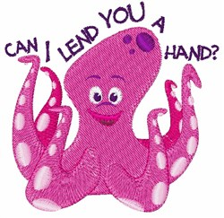 Lend A Hand embroidery design