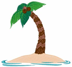 Island Tree embroidery design