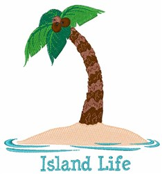 Island Life embroidery design