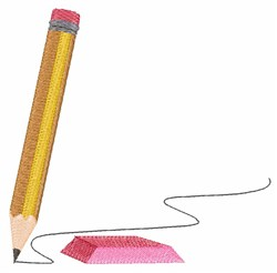 School Pencil embroidery design