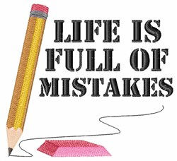 Full Of Mistakes embroidery design