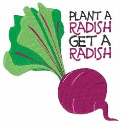 Plant A Radish embroidery design