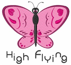High Flying embroidery design