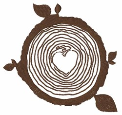 Tree Rings embroidery design