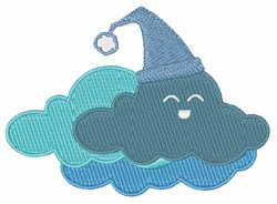 Sleepy Cloud embroidery design