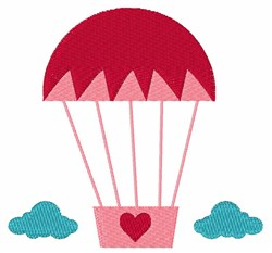Ballon In Sky embroidery design