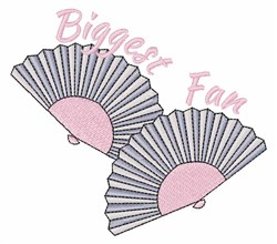 Biggest Fan embroidery design