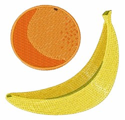 Banana & Orange embroidery design
