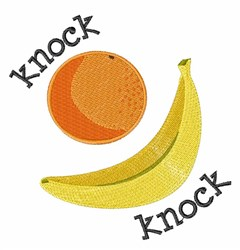 Knock Knock embroidery design