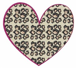 Animal Print Heart embroidery design