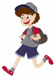 School Boy embroidery design