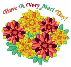 Very Mari Day embroidery design