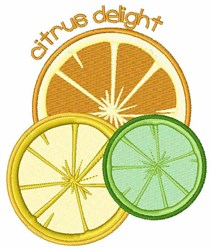 Citrus Delight embroidery design